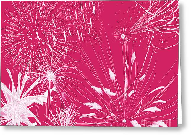 Greeting Card featuring the digital art Rose Splash by Methune Hively