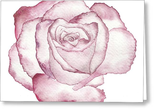 Rose Greeting Card by Varpu Kronholm