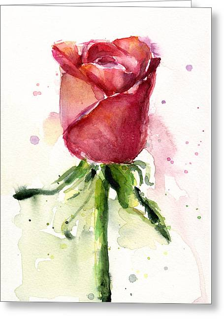 Greeting cards fine art america rose watercolor greeting card m4hsunfo