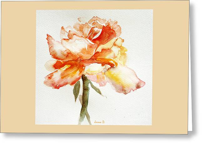 Rose Yellow Greeting Card
