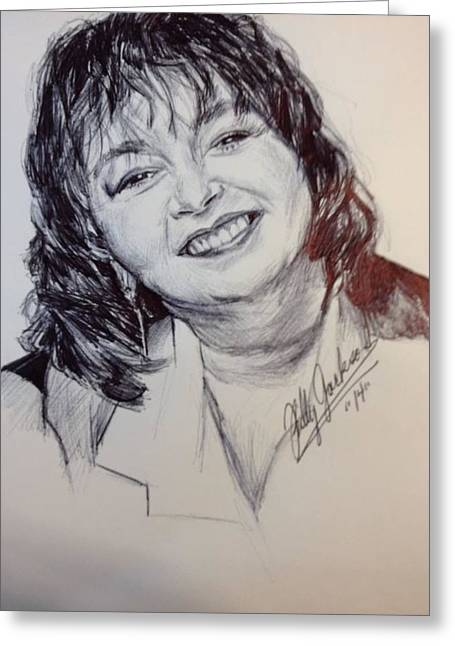 Roseanne Barr Greeting Card by Billy Jackson