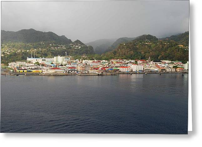 Greeting Card featuring the photograph Roseau Dominica by Gary Wonning