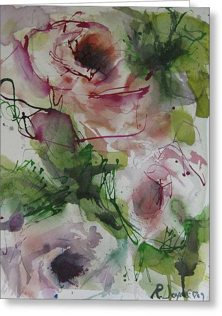 Greeting Card featuring the painting Rosebuds by Robert Joyner