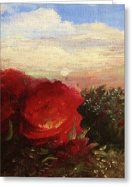Rosebush Greeting Card