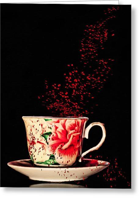 Rosehip Tea Art Greeting Card by Georgiana Romanovna
