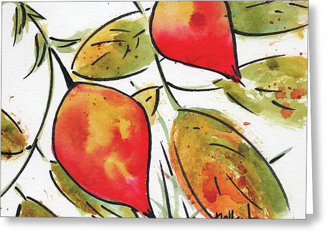 Rosehips In Autumn Greeting Card by Pat Katz