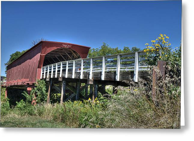 Roseman Bridge No. 5 Greeting Card by Janice Adomeit