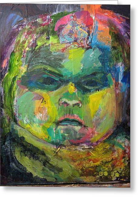 Rosemary's Baby Greeting Card by Connie Freid