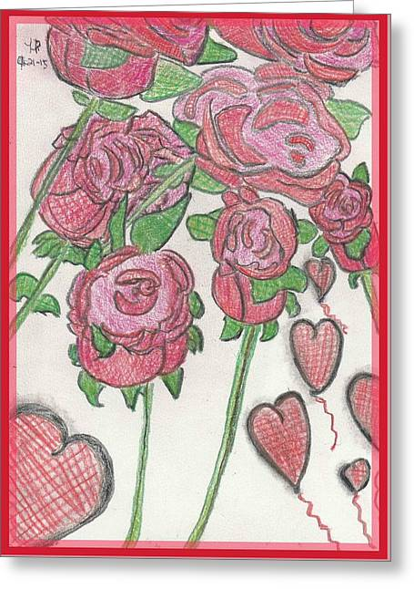 Roses A Bloom Greeting Card by Heather Parsons