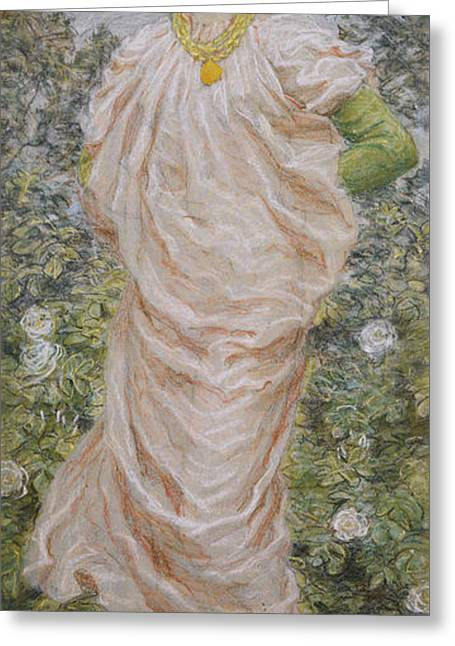 Roses Greeting Card by Albert Joseph Moore