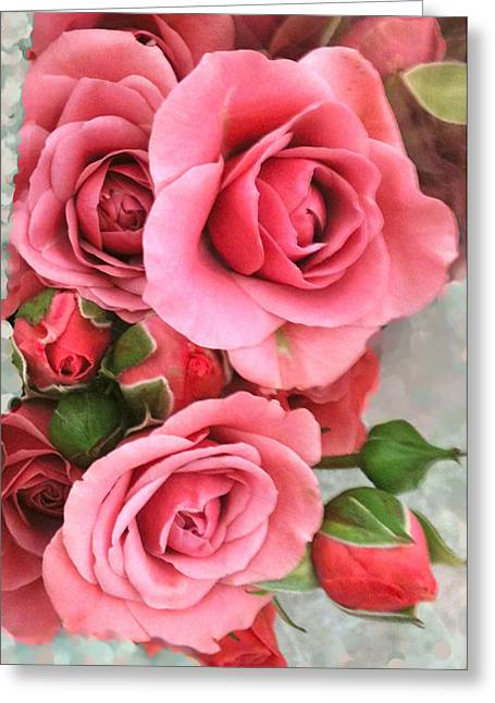 Roses And Buds Greeting Card by Debra     Vatalaro