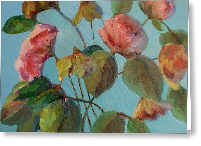 Roses And Wildflowers Greeting Card