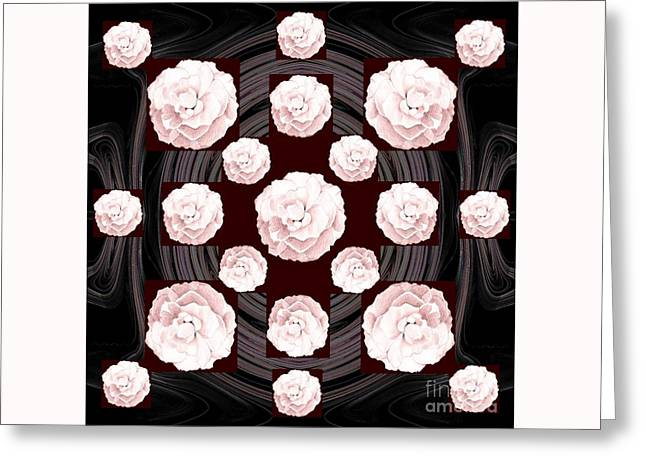 Roses Blooming In Pink Greeting Card