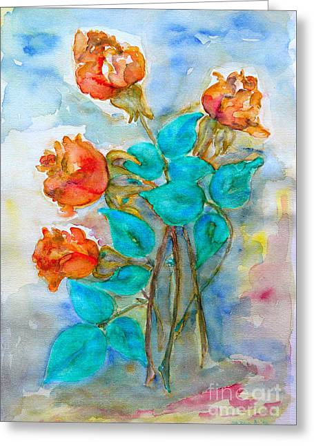 Roses Buds Greeting Card