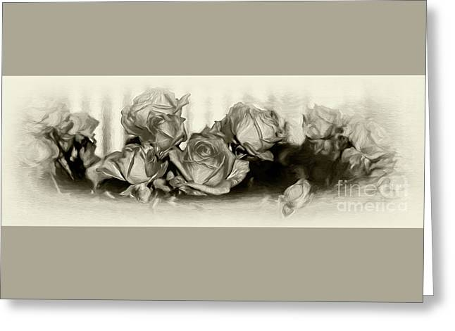 Roses By The Window By Kaye Menner Greeting Card