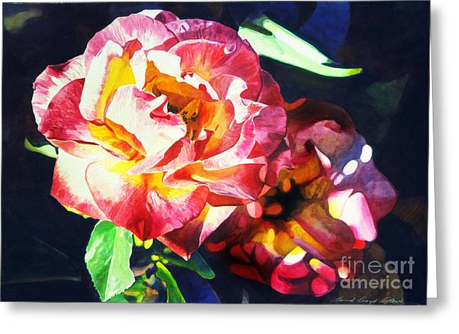 Roses Greeting Card by David Lloyd Glover