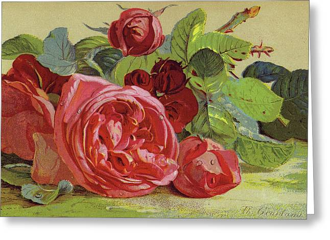 Roses Greeting Card by English School