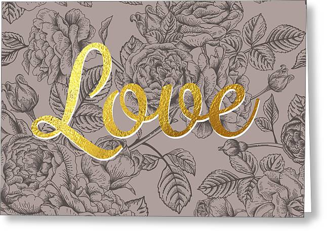Roses For Love Greeting Card by BONB Creative