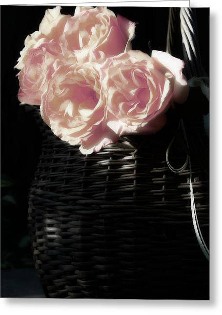 Roses For Love Greeting Card by The Art Of Marilyn Ridoutt-Greene