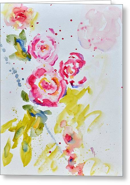 Roses For Madame Greeting Card by Beverley Harper Tinsley