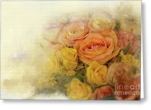 Roses For Mother's Day Greeting Card by Eva Lechner