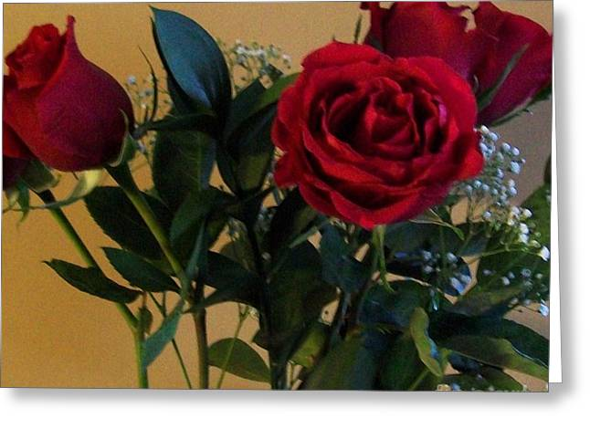 Roses For Valentines Day Greeting Card by Marsha Heiken