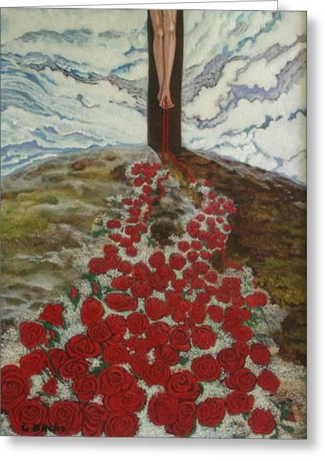 Roses Greeting Card by Georgette Backs