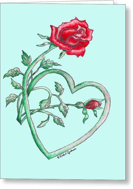 Roses Hearts Lace Flowers Transparency       Greeting Card by Dale Jackson