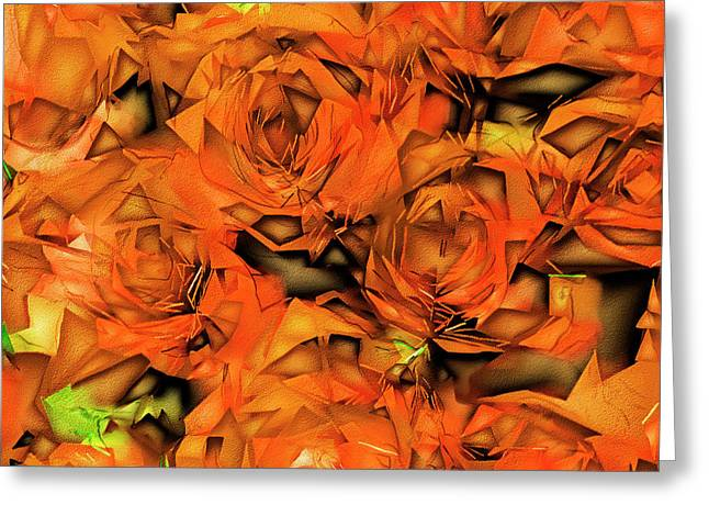 Roses In Abstract 20170325 Square Greeting Card by Wingsdomain Art and Photography