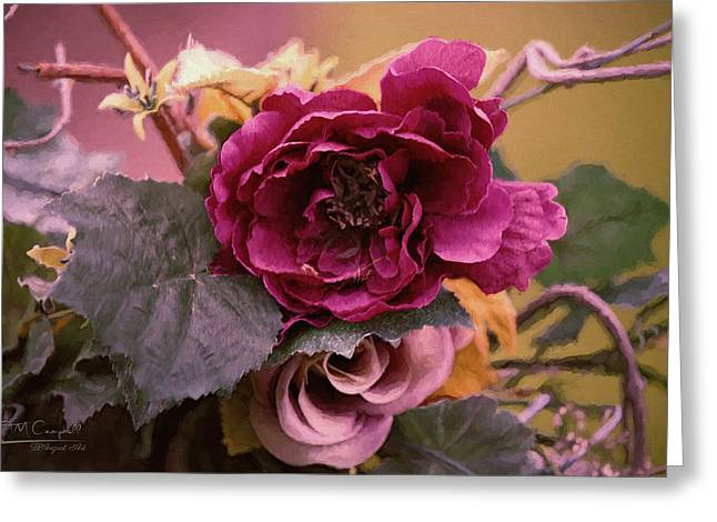 Roses In Oils Greeting Card