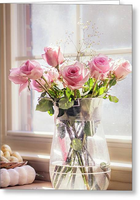 Roses In The Kitchen Greeting Card