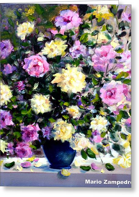 Roses Greeting Card by Mario Zampedroni