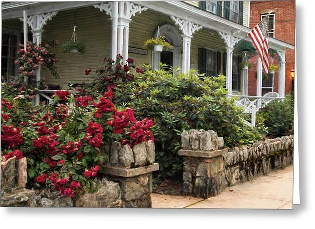 Greeting Card featuring the photograph Roses On Hope Street by Robin-Lee Vieira