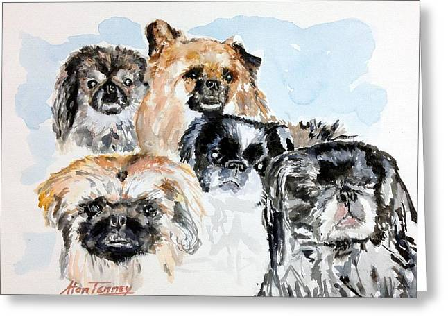 Rose's Pekingese Greeting Card