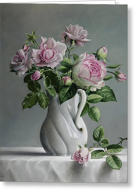 Roses Greeting Card by Pieter Wagemans