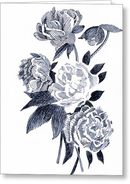 Roses Greeting Card by Robbi  Musser