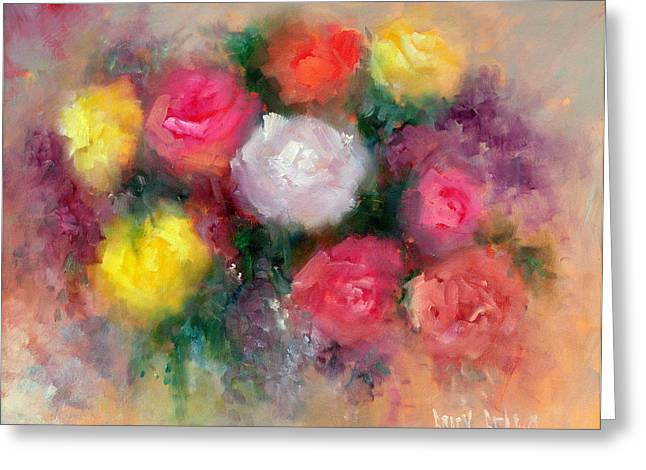 Roses Greeting Card by Sally Seago