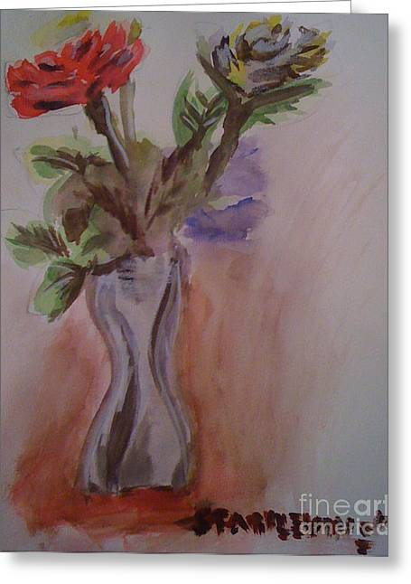 Roses Greeting Card by Stan Levine