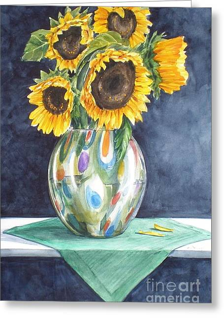 Rose's Sunflowers Greeting Card