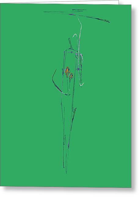 Roses Under Umbrella Greeting Card by Viktor Savchenko