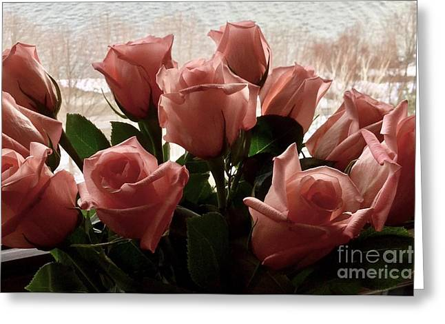 Roses With Love Greeting Card