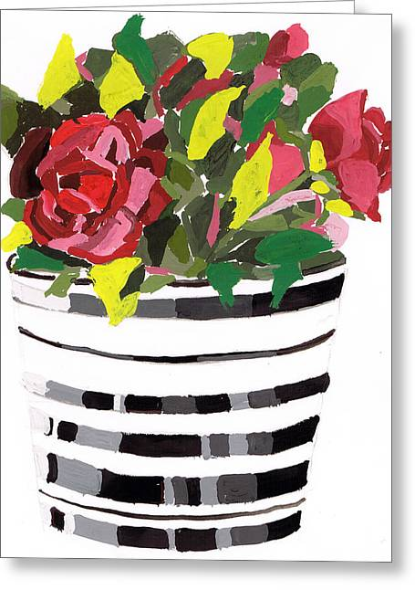Roses Greeting Card by Zara GDezfuli