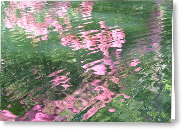 Rosey Ripples Greeting Card