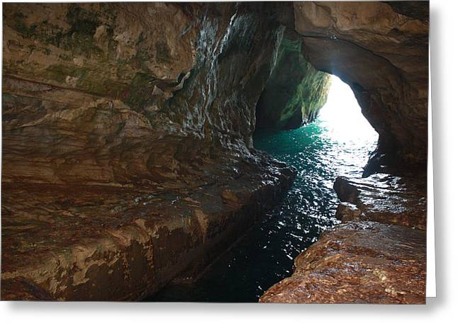 Greeting Card featuring the photograph Rosh Hanikra Water Caves by Julie Alison