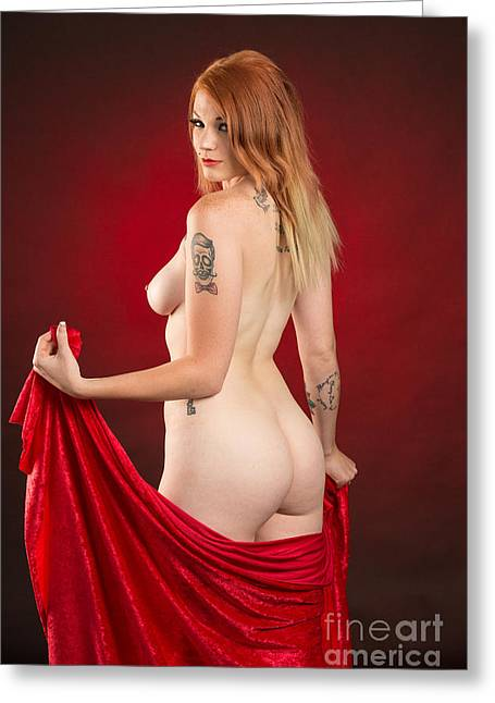 Rosie Nude Fine Art Print In Sensual Sexy Color 4670.02 Greeting Card by Kendree Miller