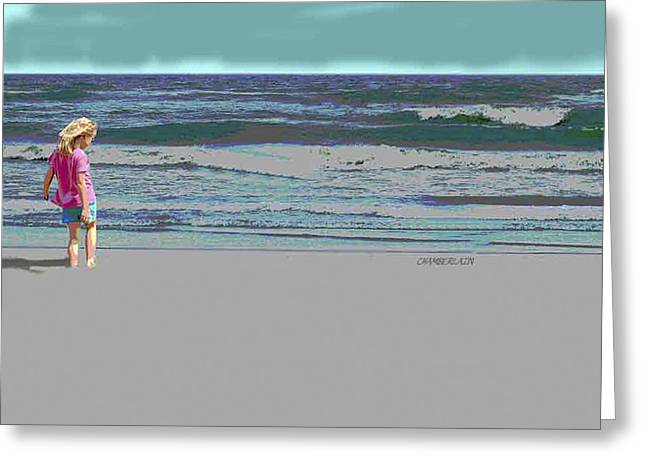 Rosie On The Beach Greeting Card