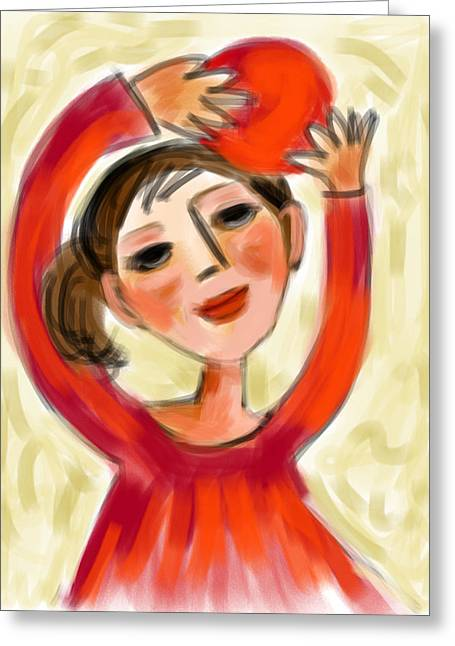 Rosie Red  Greeting Card by Elaine Lanoue