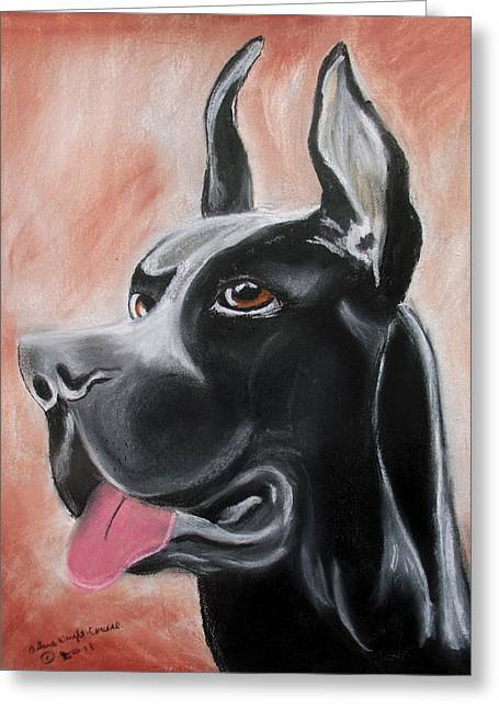 Rosie The Great Dane Greeting Card by Arlene  Wright-Correll