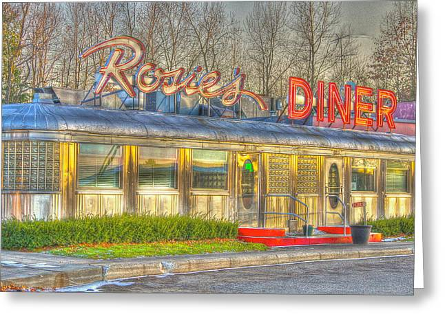 Diner Photographs Greeting Cards - Rosies Greeting Card by Robert Pearson