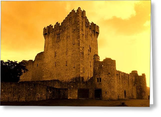 Ross Castle Greeting Card by Aidan Moran